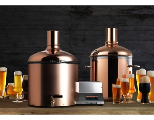 BrauEule III Pro Set copper plated lautering tun