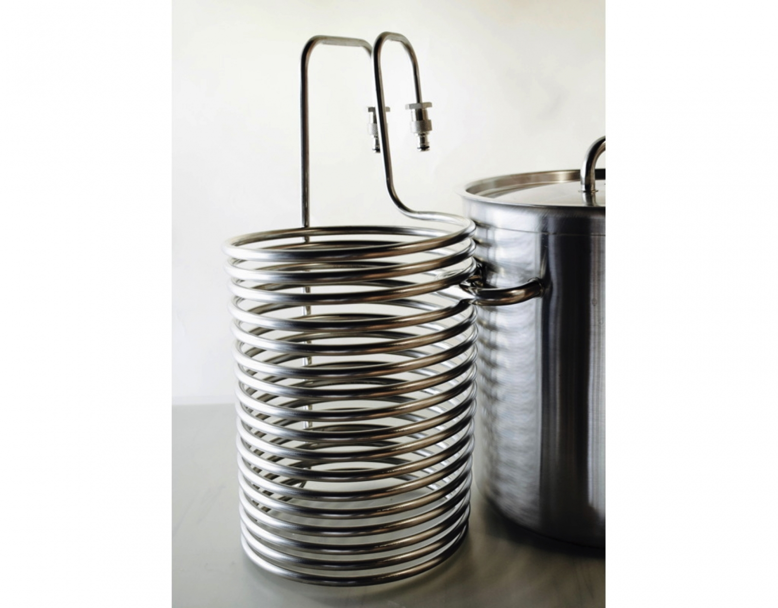 Kühlspirale Edelstahl mit Kupplung